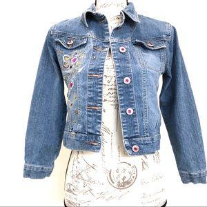 Arizona Jeans Co. Jewel Embellished Denim Jacket